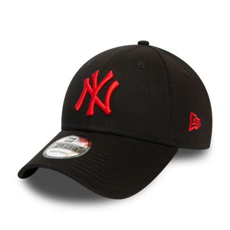 Gorra New York Yankees Essential Red Logo 9FORTY, negro