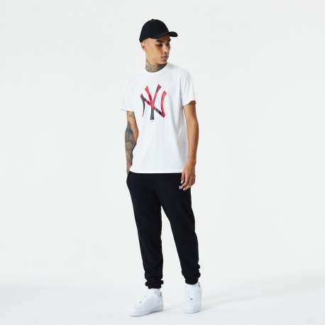 Camiseta New York Yankees Red Infill, blanco
