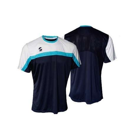 CAMISETA PADEL SOFTEE CLUB COLOR MARINO/BLANCO/CELESTE